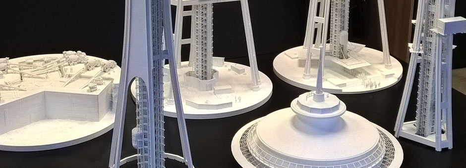 3D Printed Model Sections