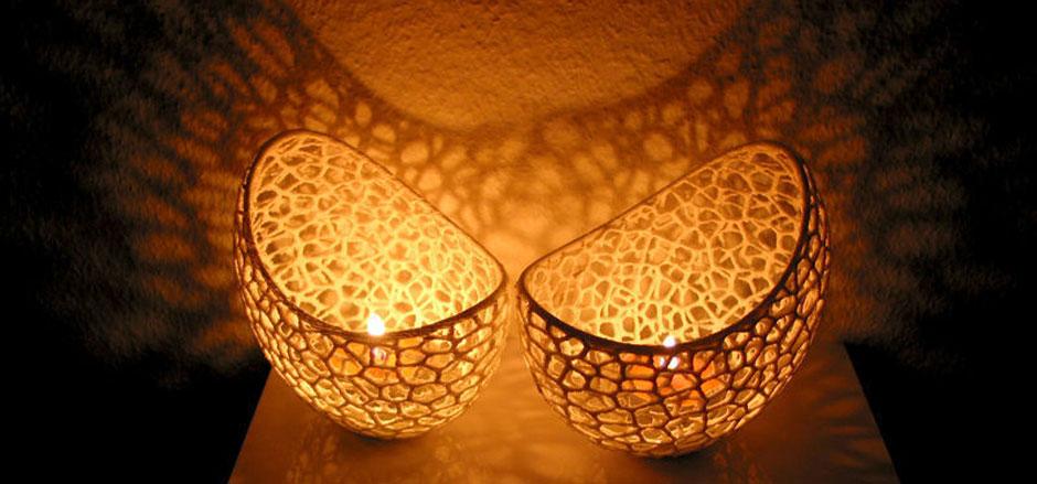 3D Printed Tea Lamps