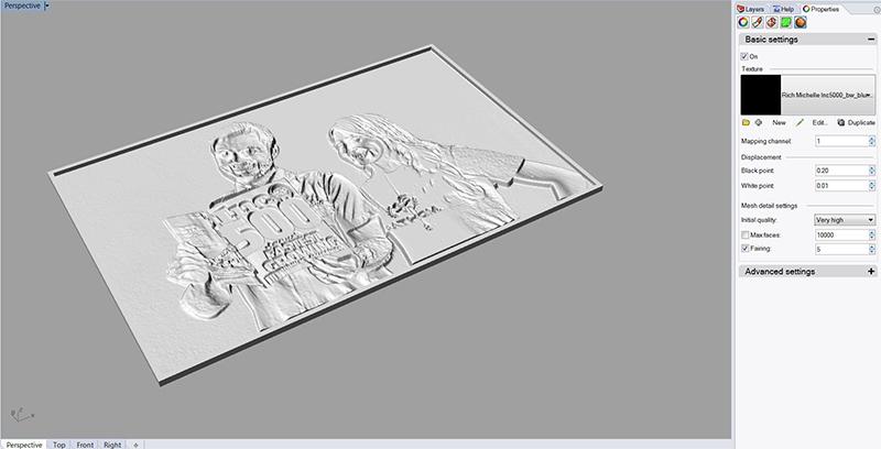 Inc5000 3D Printed Photo FATHOM