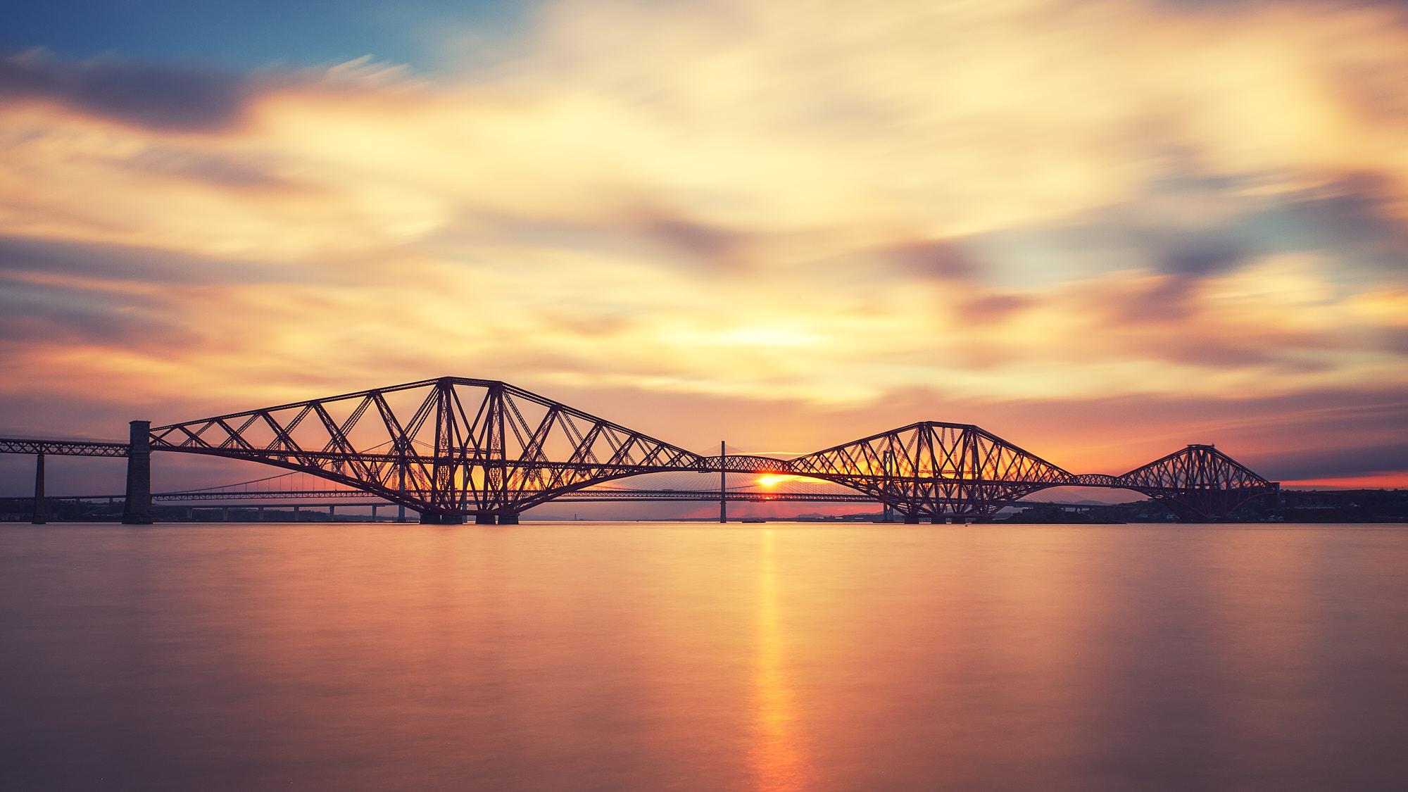 The Bridges, Sunday 06 May, 2018 in South Queensferry, Edinburgh, Scotland
