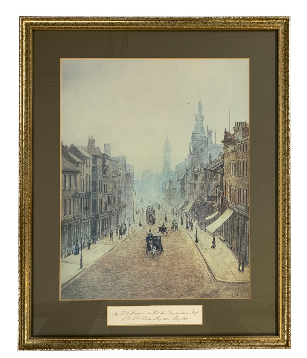 Original print, with mount and framing.