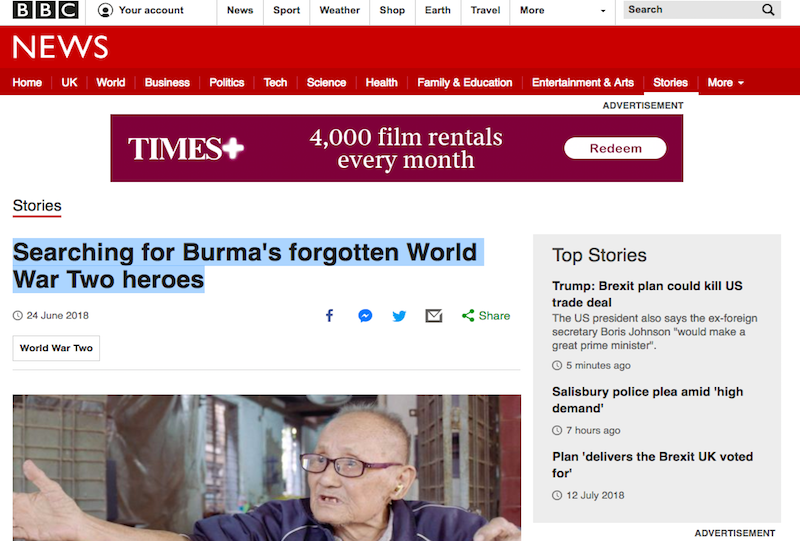 Searching for Burma's Forgotten WW2 Heroes