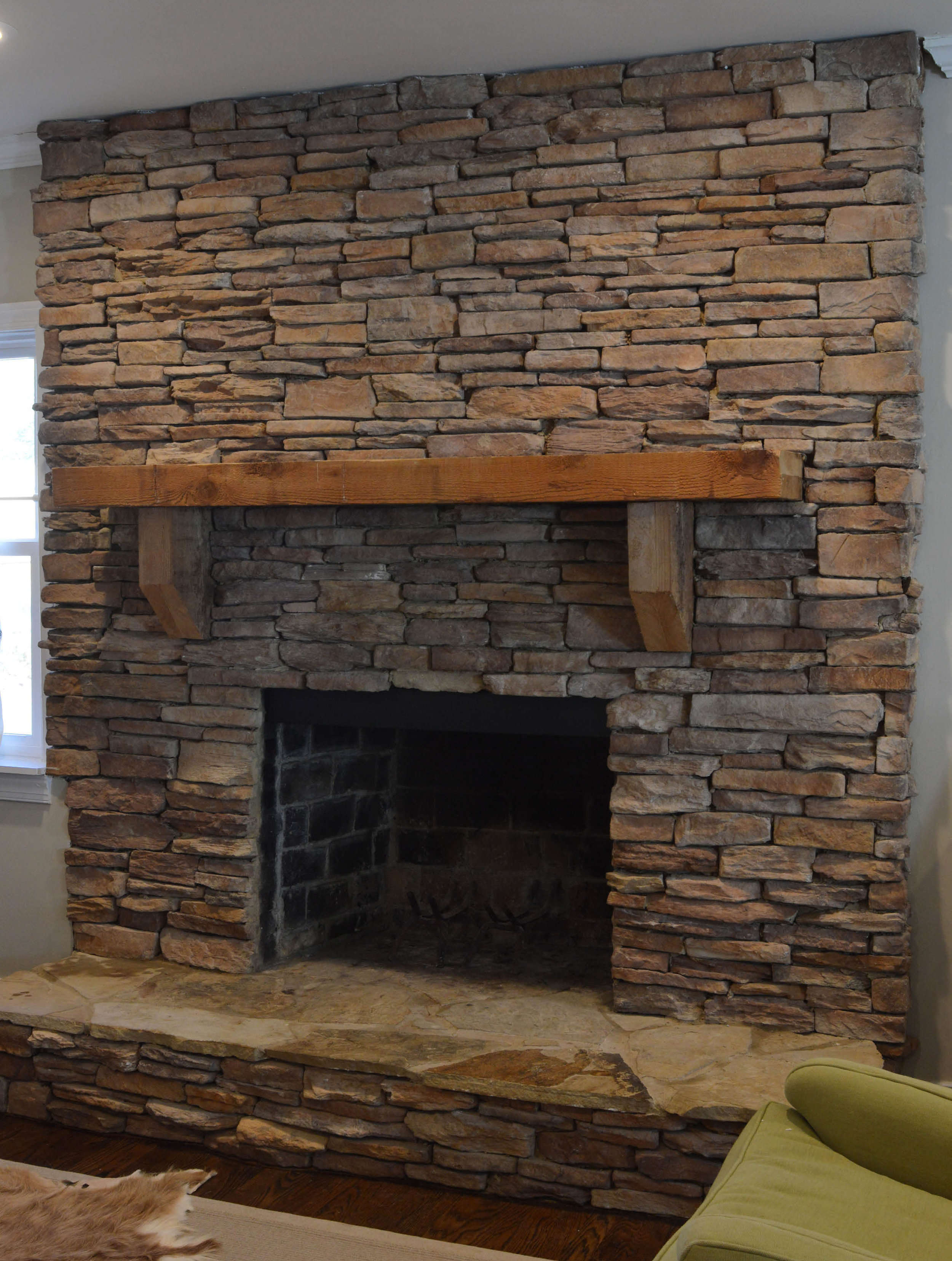 Before After Our Fireplace Makeover Hearth And Home