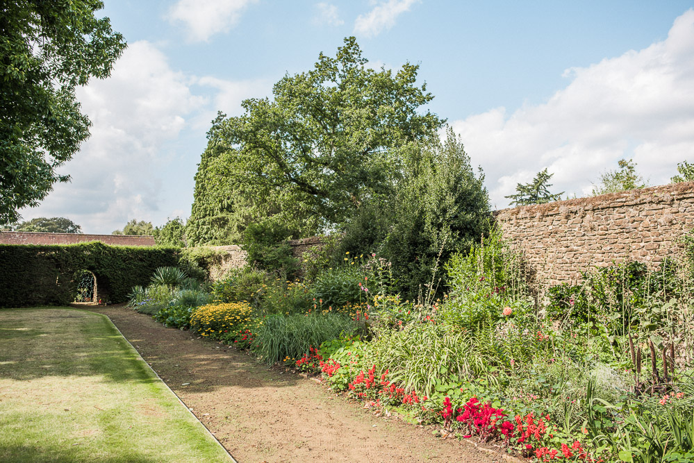 The border has been designed with 'hot' colours in the foreground and 'cool' colours towards the far hedge