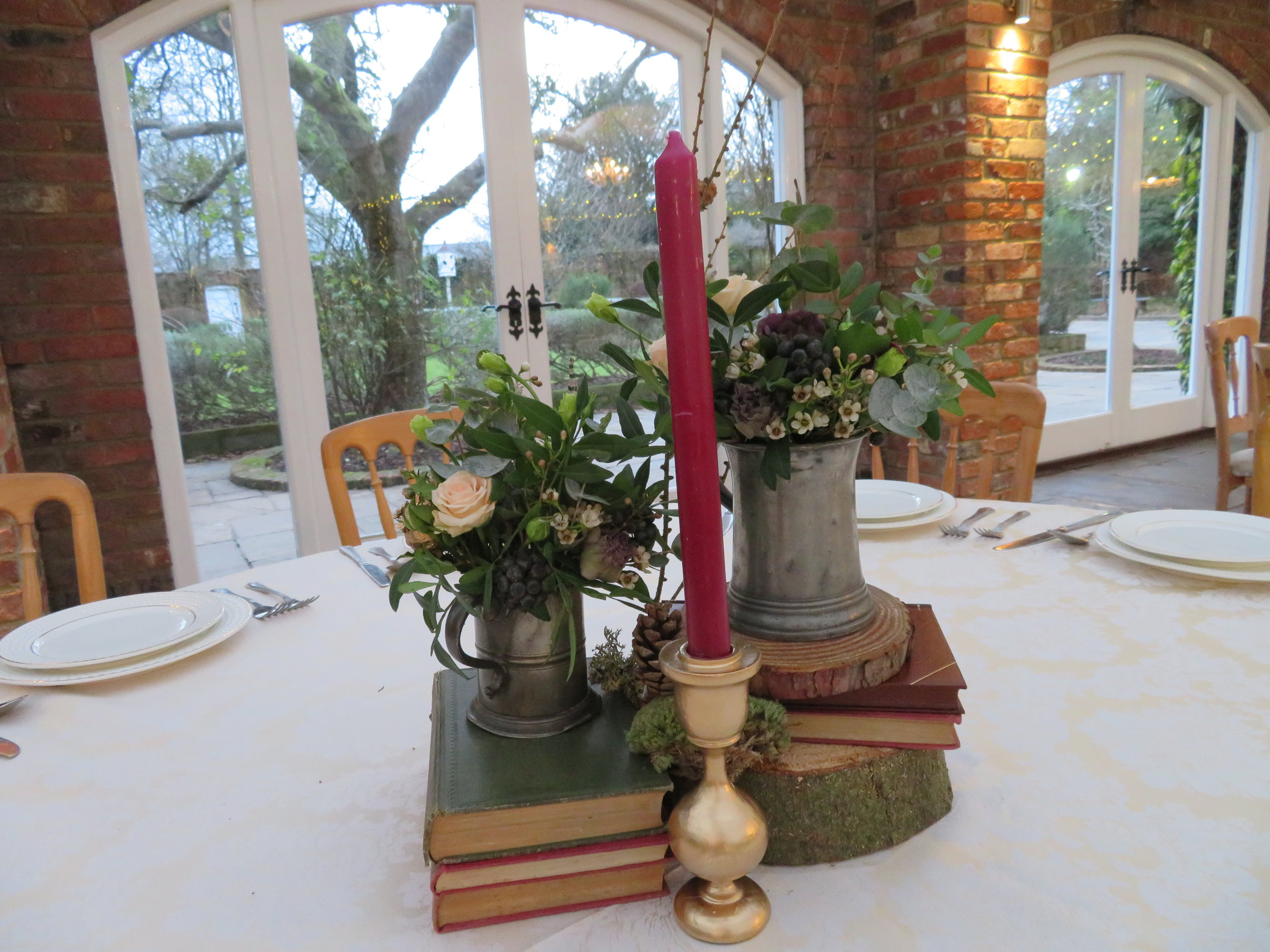 One of the table centres which used tankards