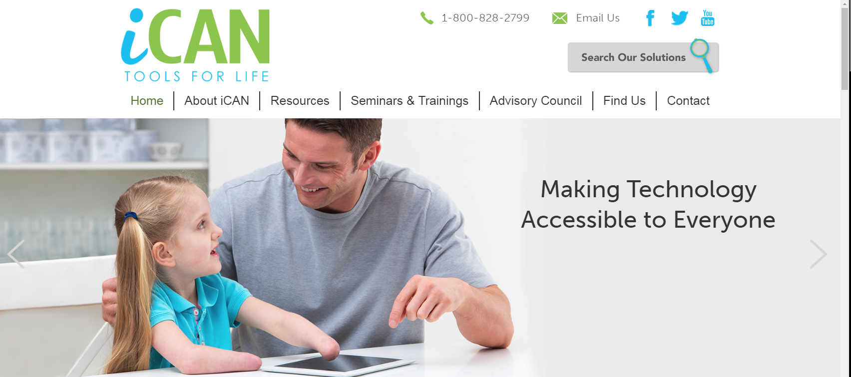 iCAN - iCAN is the Arkansas statewide Assistive Technology program designed to make technology available and accessible for everyone who needs it.