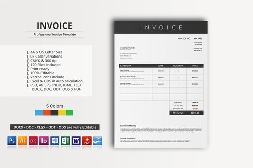 Professional Invoice Templates To Use For Your Business