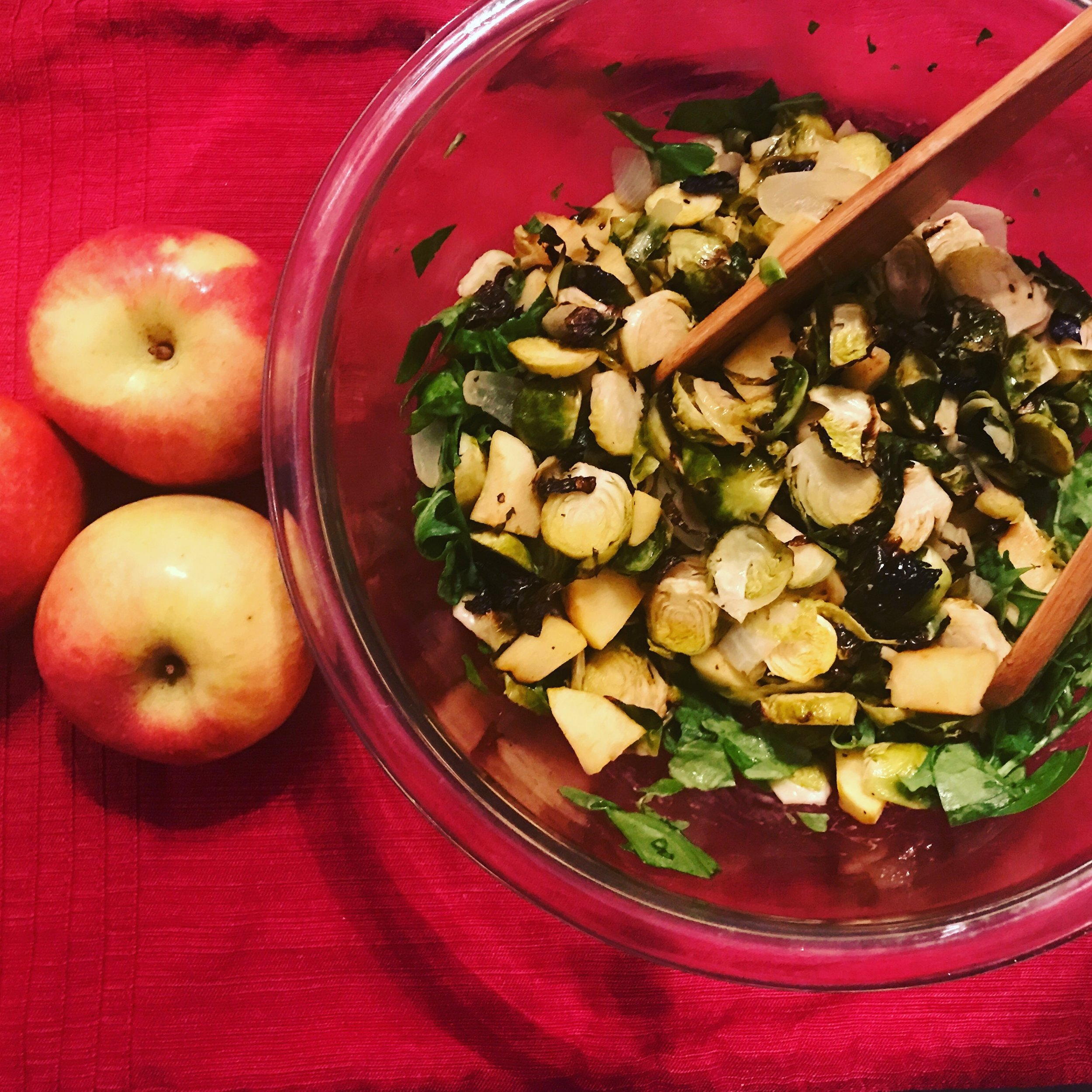 Brussels Sprouts and Apple Salad