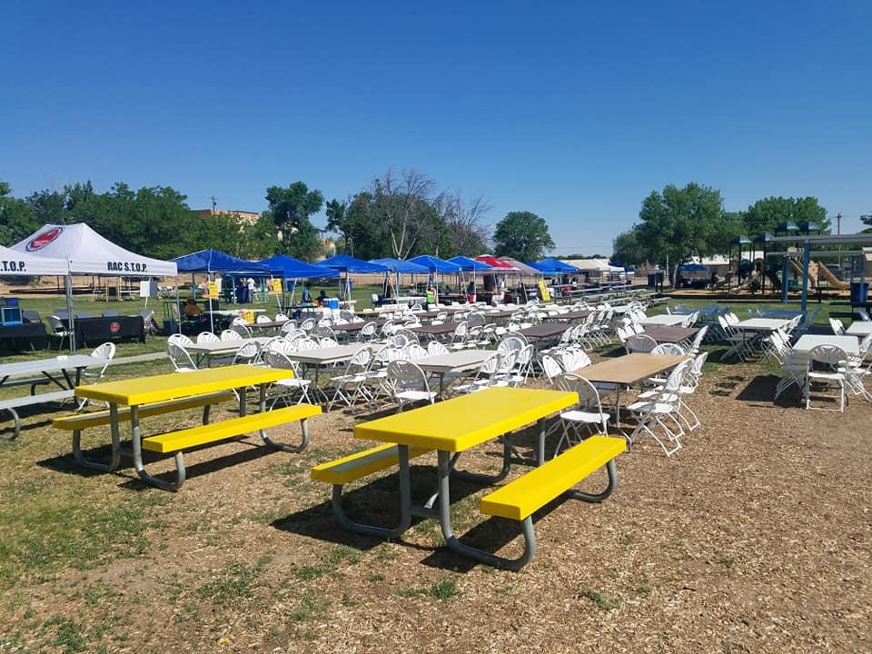Matanza set up before festivites began.