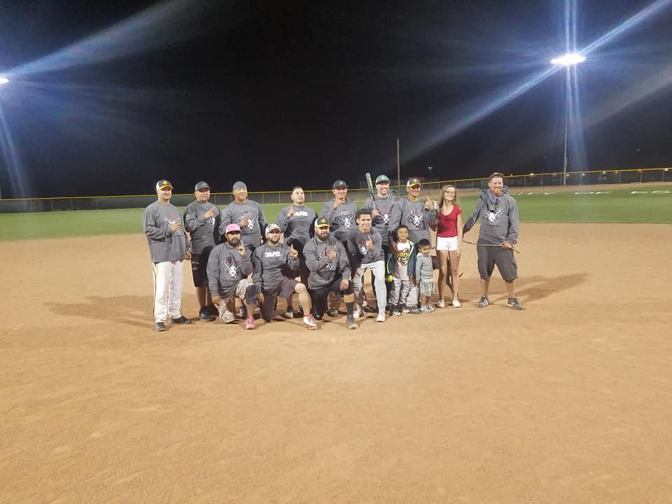 Winners of the2018 Española Community Matanza Softball Tournament, the Scorpions.