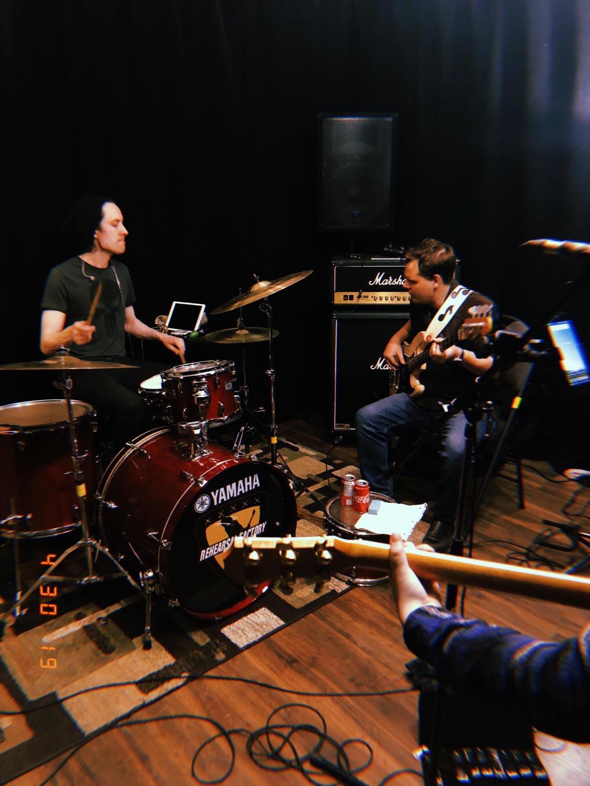 This sweet little rhythm section— Chris Lyttle (L), Tom Perry (R).