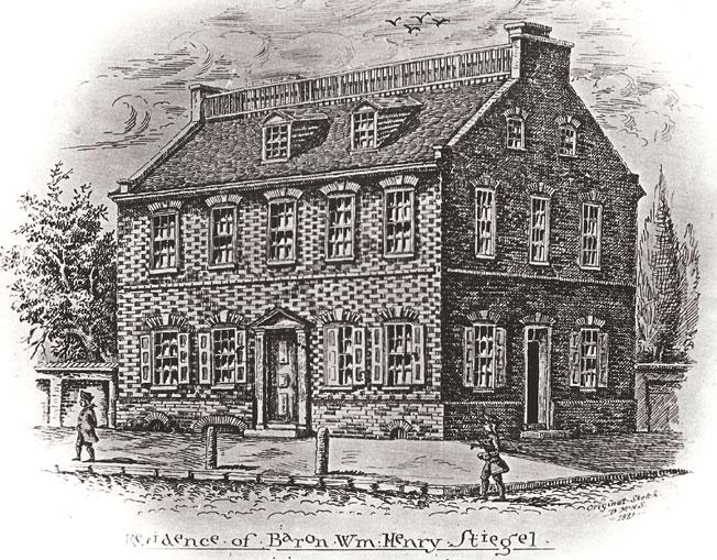 Sketch Of Stiegels Mansion