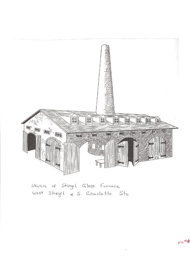 Sketch Of Stiegal Glass Furnace