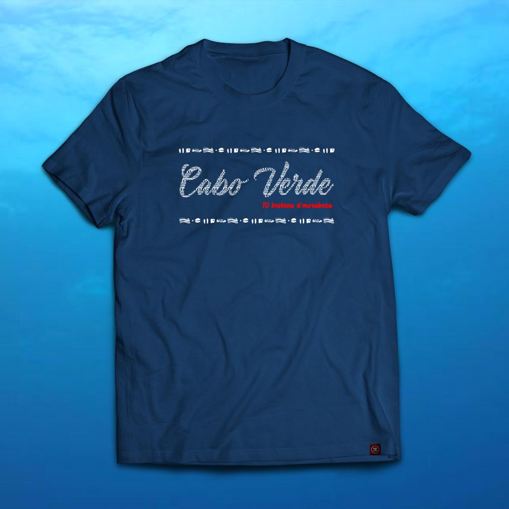 txirte t-shirt Cabo Verde Royal Blue