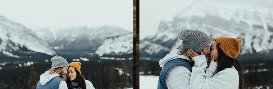 Banff Engagement Photographer - Winter Mountain Adventure Engagement Session - Michelle Larmand Photography-007