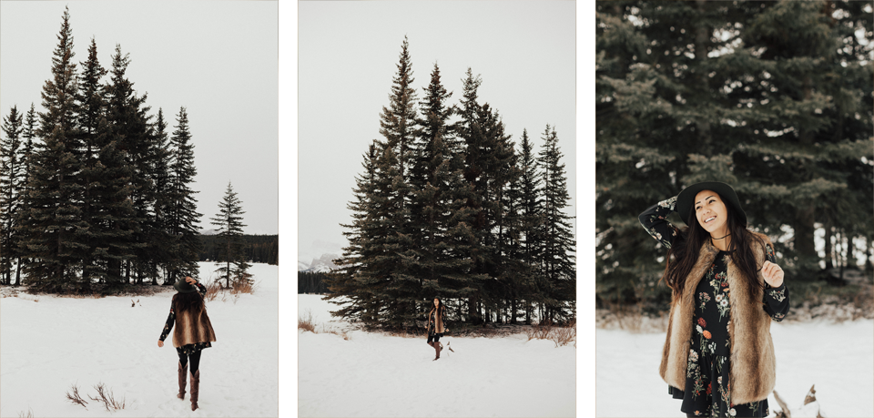 Banff Engagement Photographer - Winter Mountain Adventure Engagement Session - Michelle Larmand Photography-023