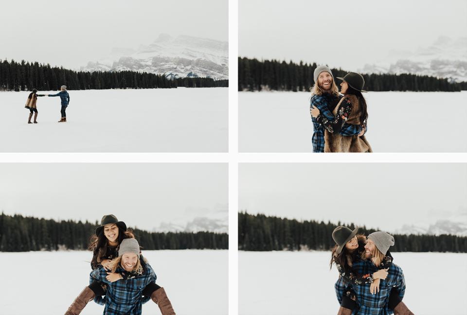 Banff Engagement Photographer - Winter Mountain Adventure Engagement Session - Michelle Larmand Photography-029