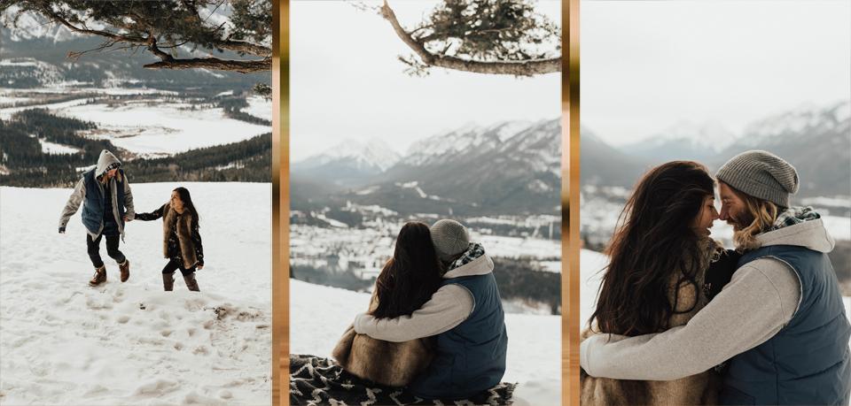 Banff Engagement Photographer - Winter Mountain Adventure Engagement Session - Michelle Larmand Photography-055