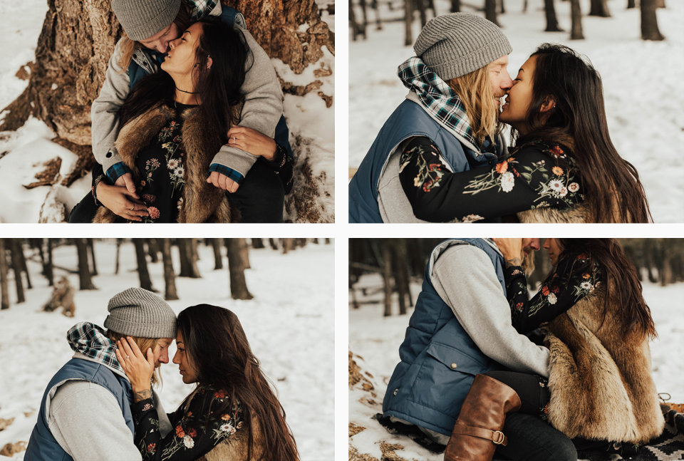 Banff Engagement Photographer - Winter Mountain Adventure Engagement Session - Michelle Larmand Photography-064