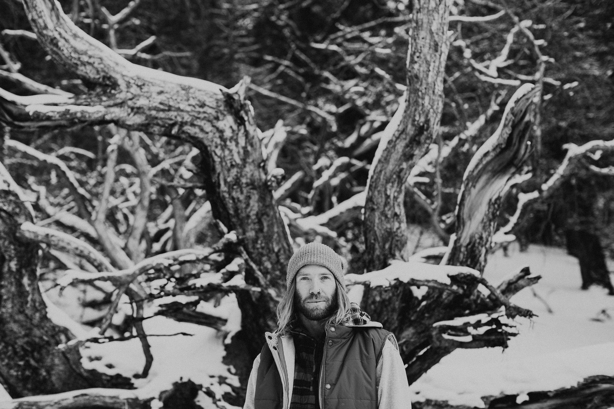 Banff Engagement Photographer - Winter Mountain Adventure Engagement Session - Michelle Larmand Photography-070
