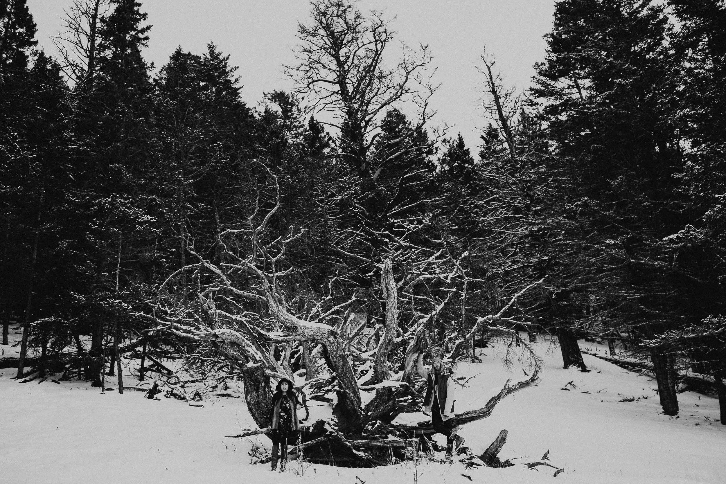 Banff Engagement Photographer - Winter Mountain Adventure Engagement Session - Michelle Larmand Photography-073