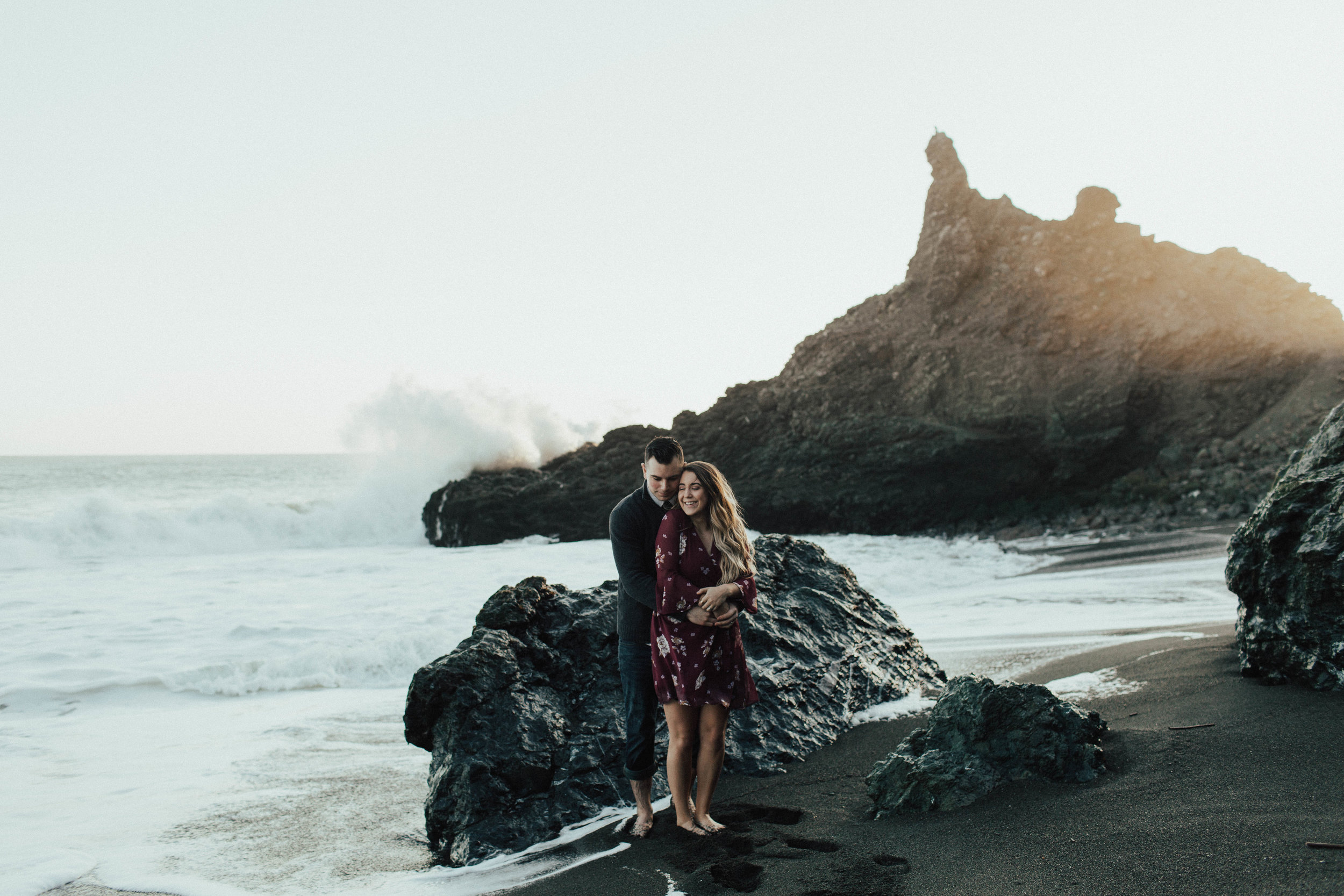 Black Sands Beach Couples Session - Michelle Larmand Photography019
