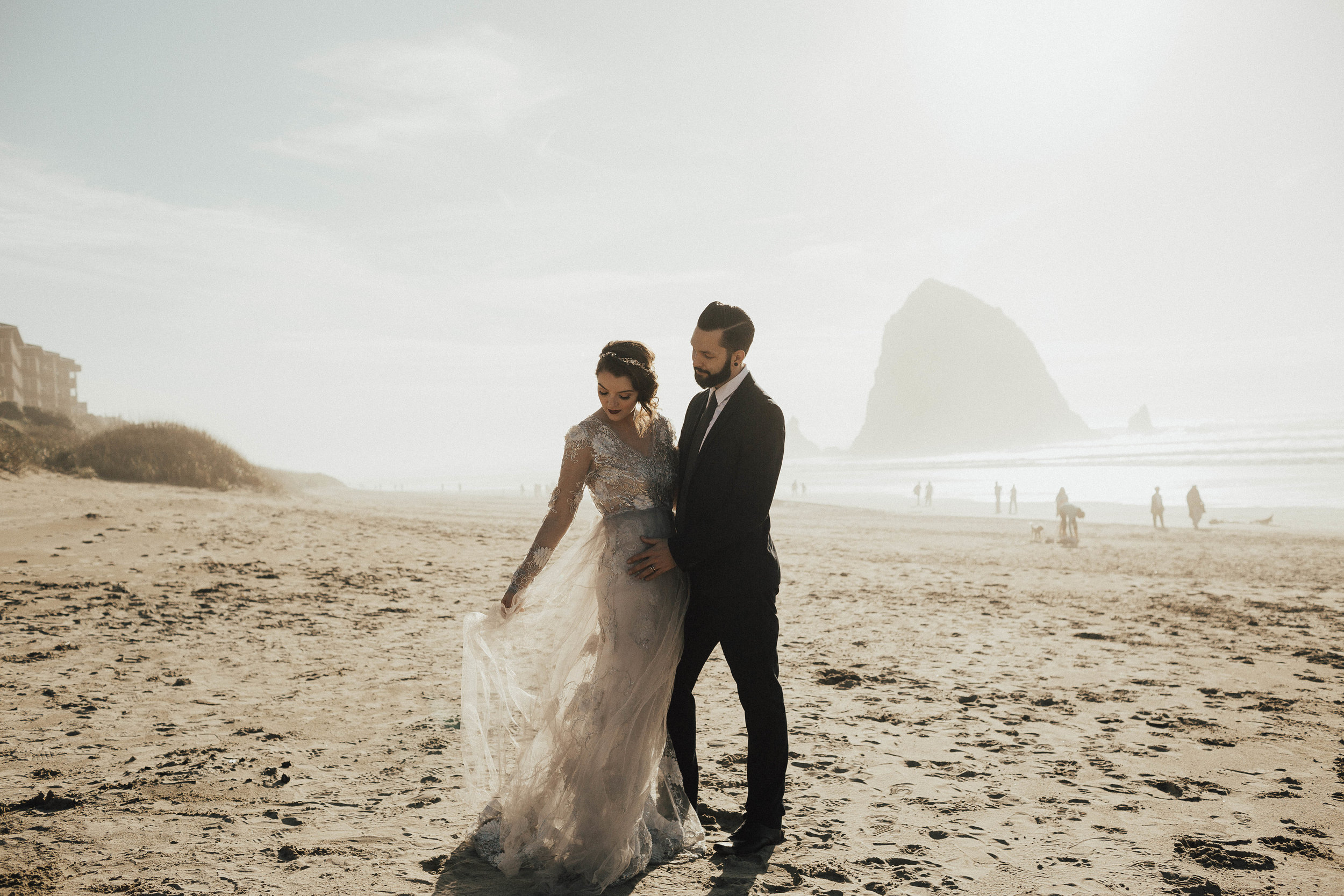 Cannon Beach Elopement - Michelle Larmand Photography - 042