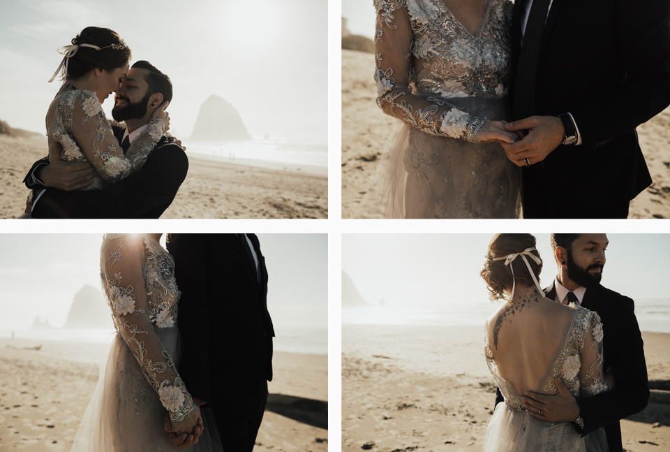 Cannon Beach Elopement - Michelle Larmand Photography - 044