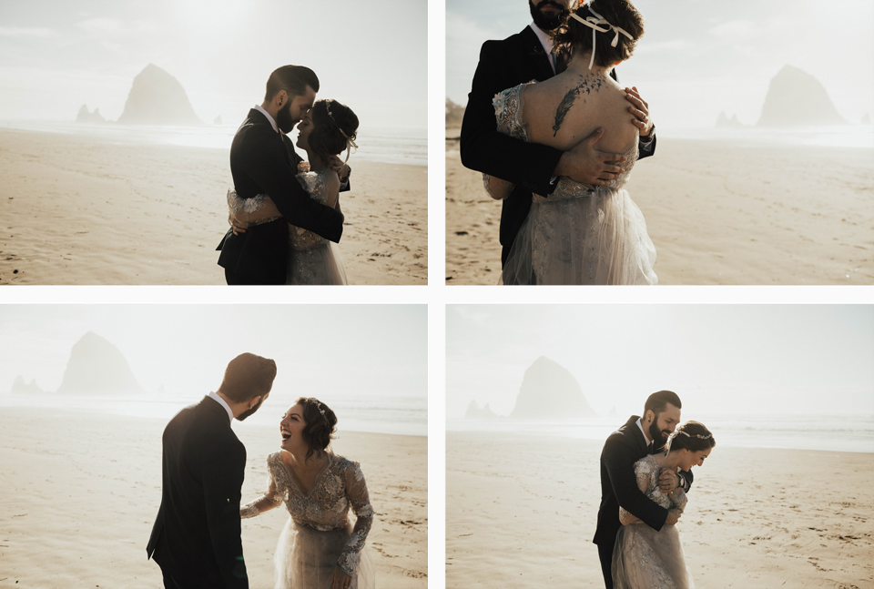 Cannon Beach Elopement - Michelle Larmand Photography - 046