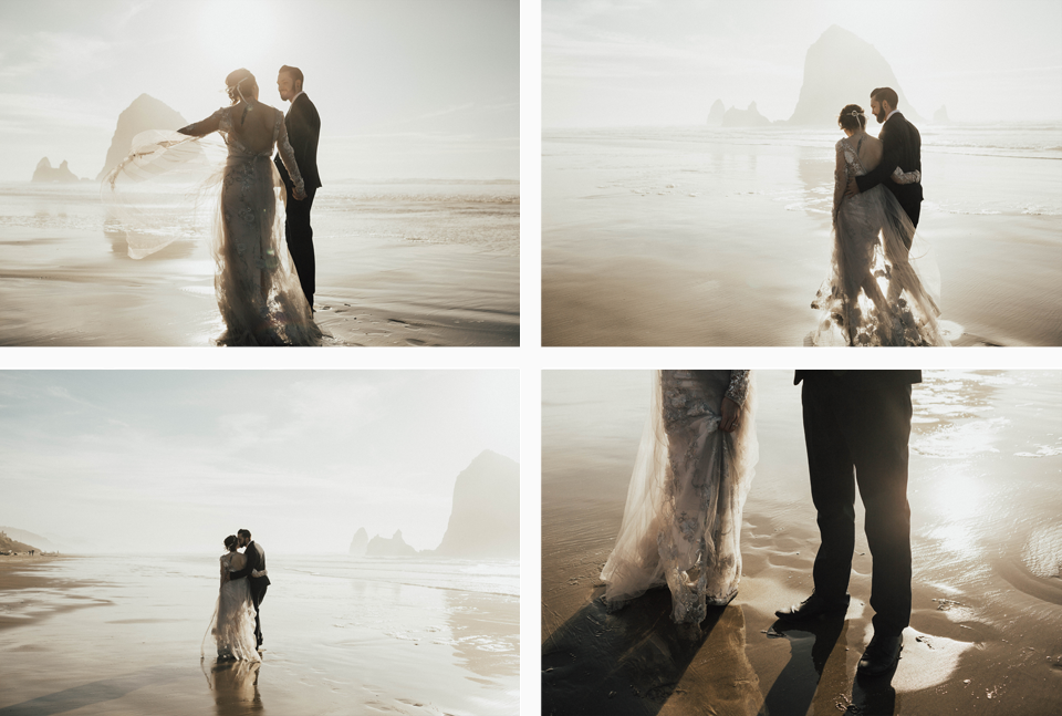 Cannon Beach Elopement - Michelle Larmand Photography - 066