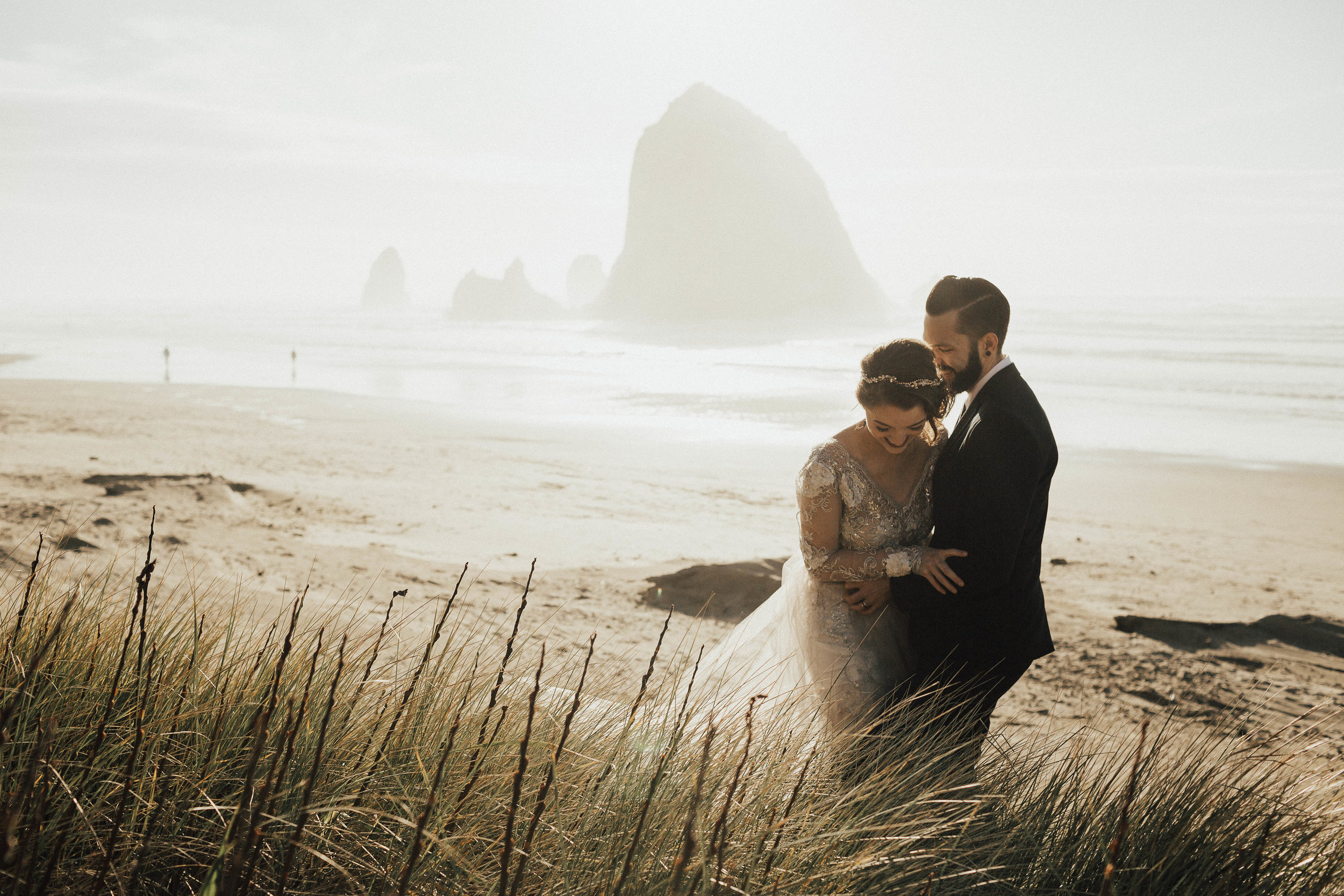 Cannon Beach Elopement - Michelle Larmand Photography - 070