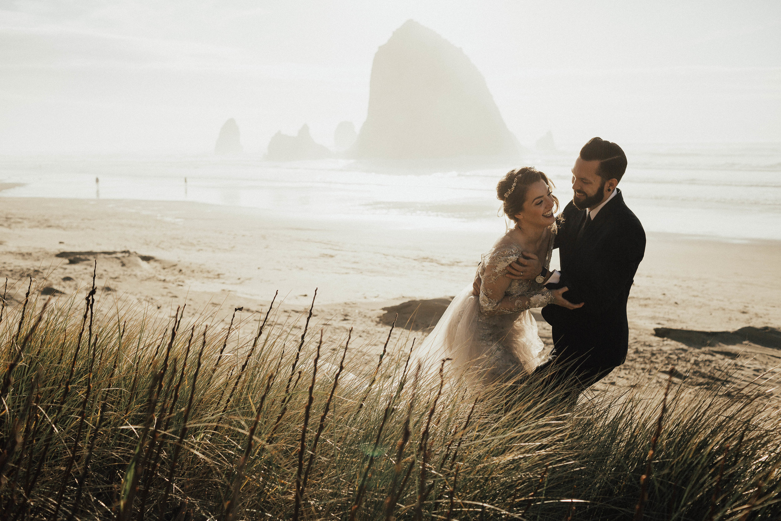 Cannon Beach Elopement - Michelle Larmand Photography - 071