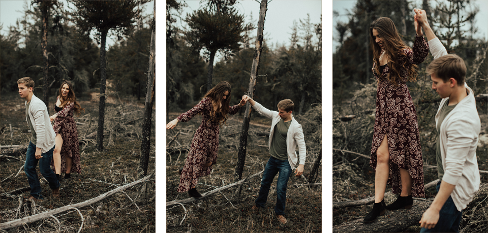 Edmonton Engagement Photographer - Michelle Larmand Photography - Mossy woods engagement session046