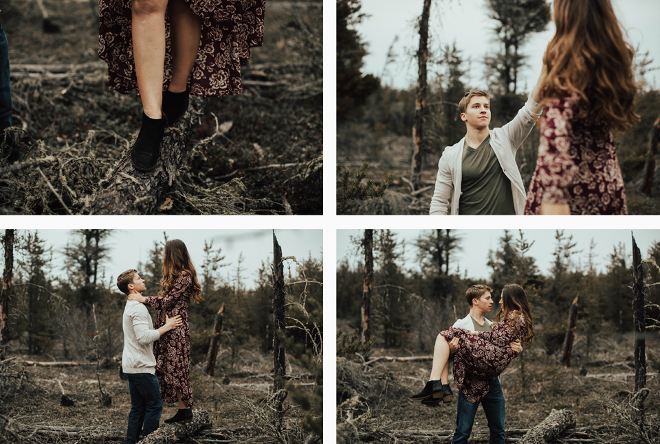 Edmonton Engagement Photographer - Michelle Larmand Photography - Mossy woods engagement session048