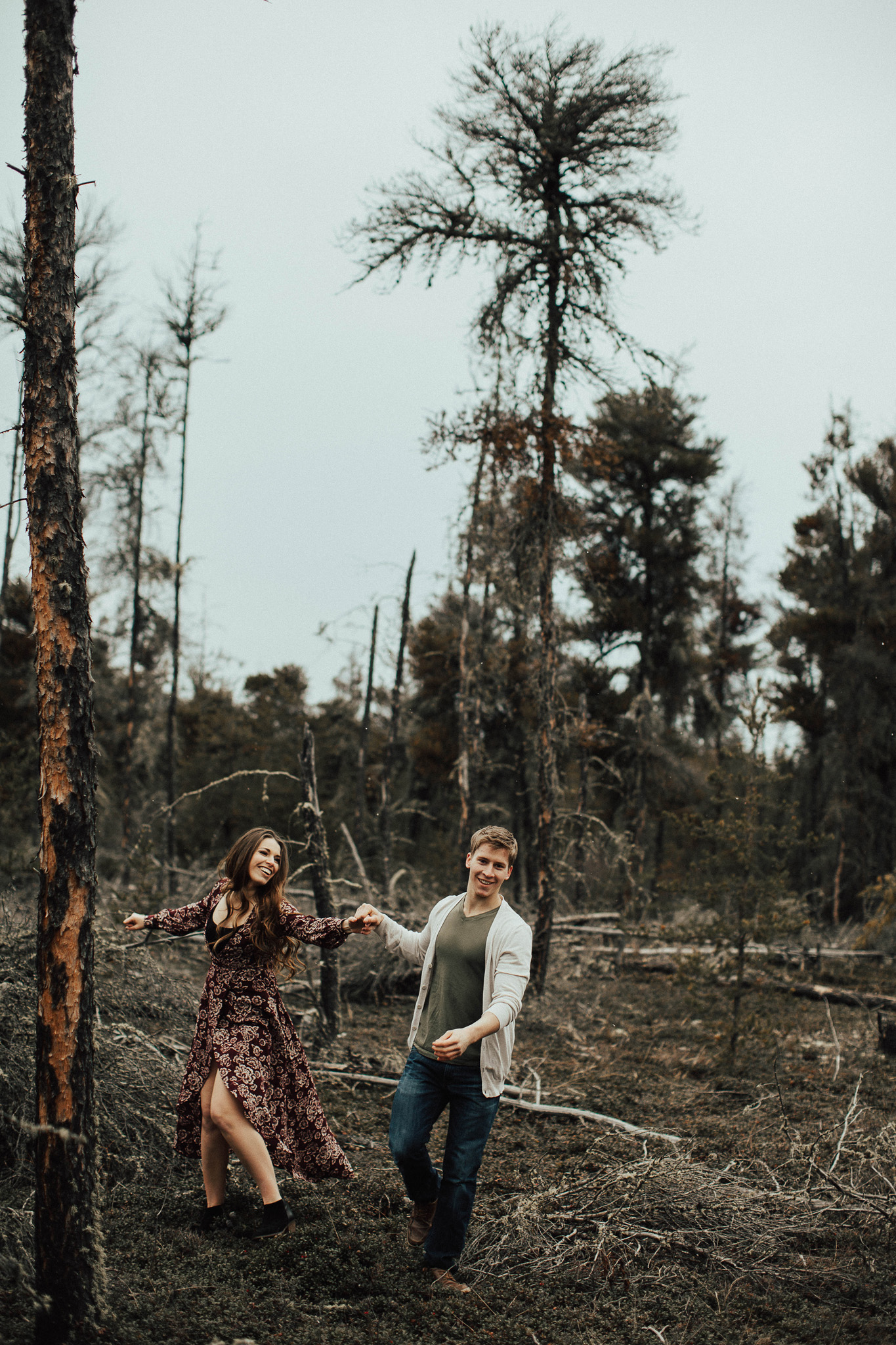 Edmonton Engagement Photographer - Michelle Larmand Photography - Mossy woods engagement session054