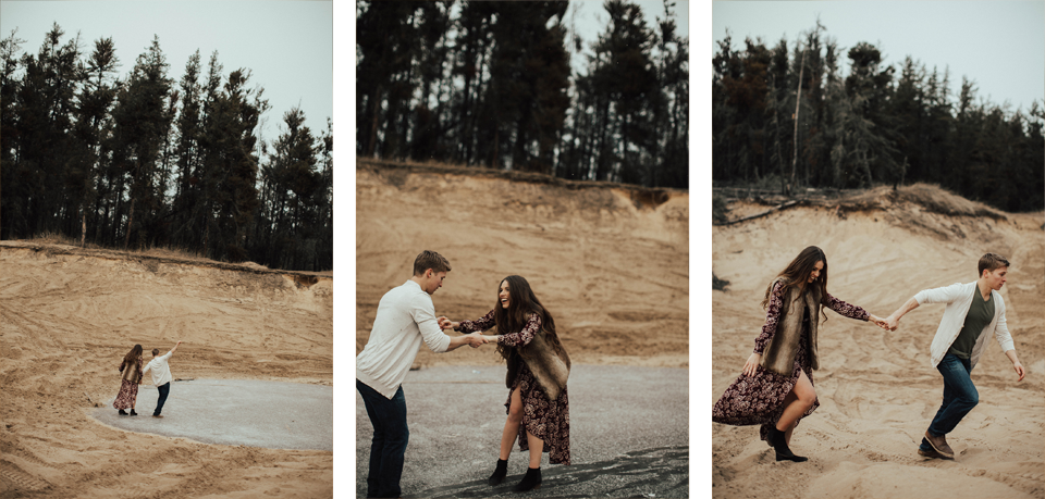 Edmonton Engagement Photographer - Michelle Larmand Photography - Mossy woods engagement session075