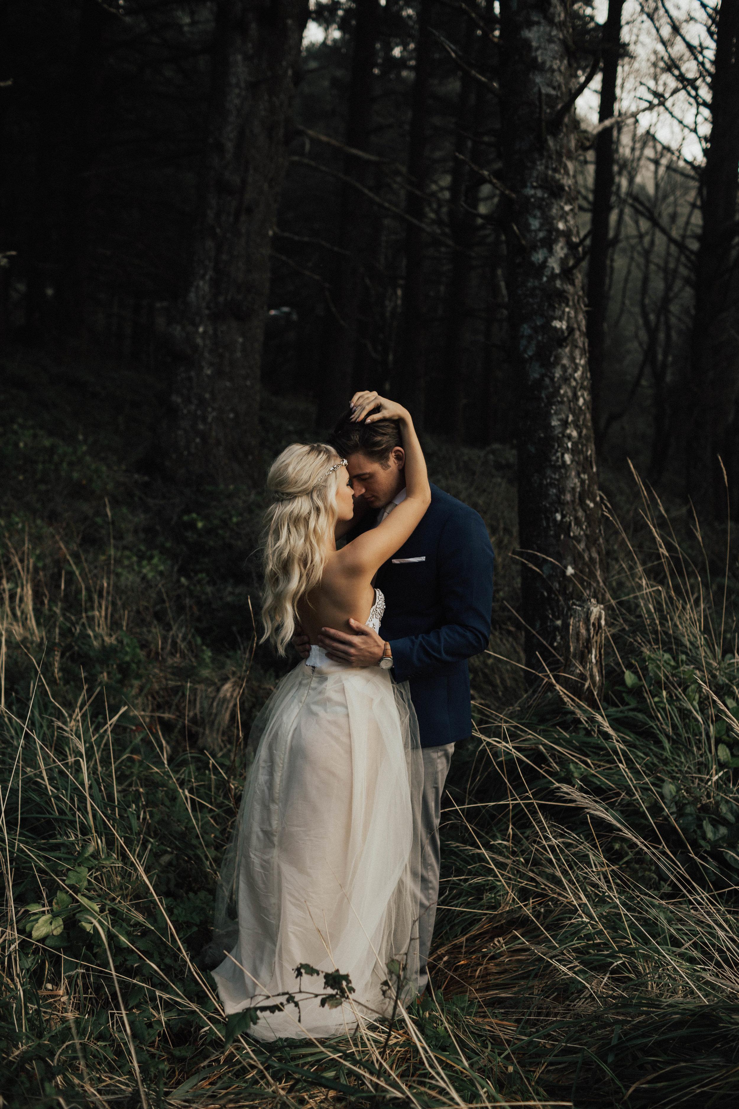 Hug Point Oregon Elopement - Michelle Larmand Photography -001