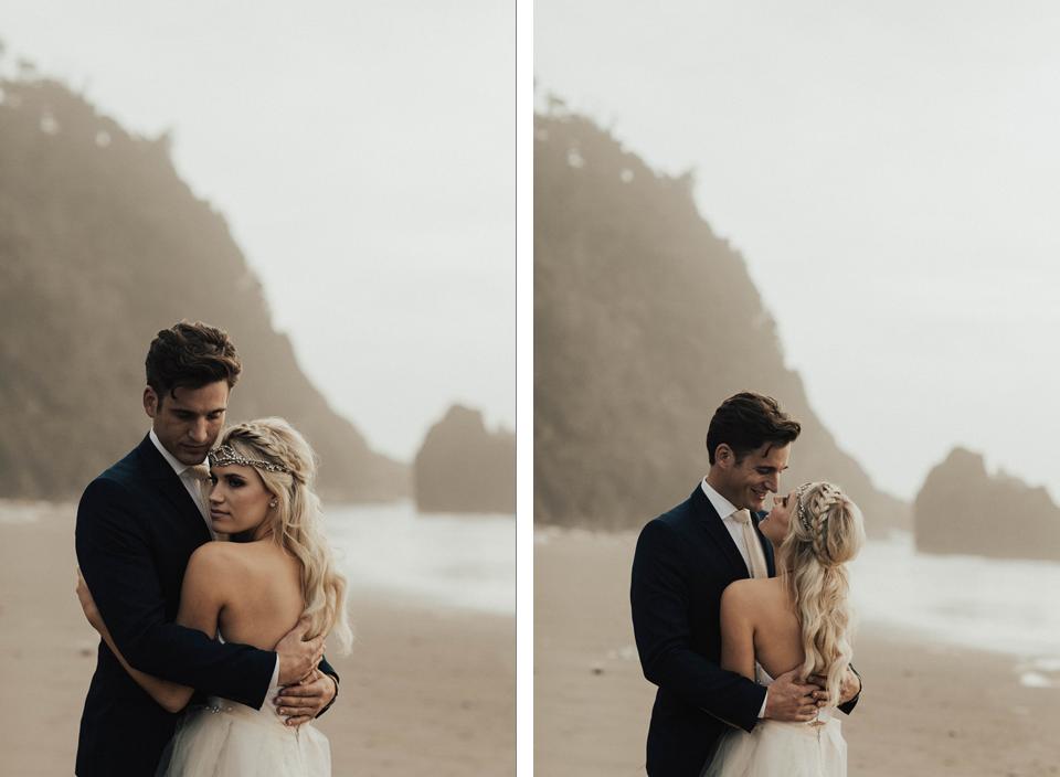Hug Point Oregon Elopement - Michelle Larmand Photography -007