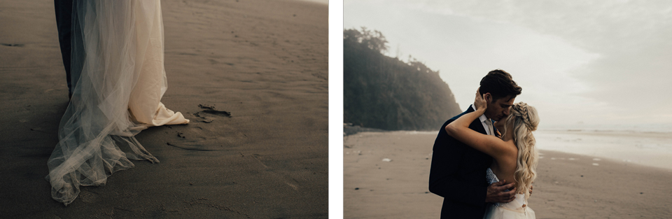 Hug Point Oregon Elopement - Michelle Larmand Photography -009