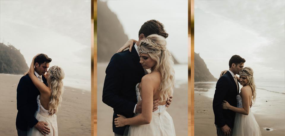 Hug Point Oregon Elopement - Michelle Larmand Photography -011