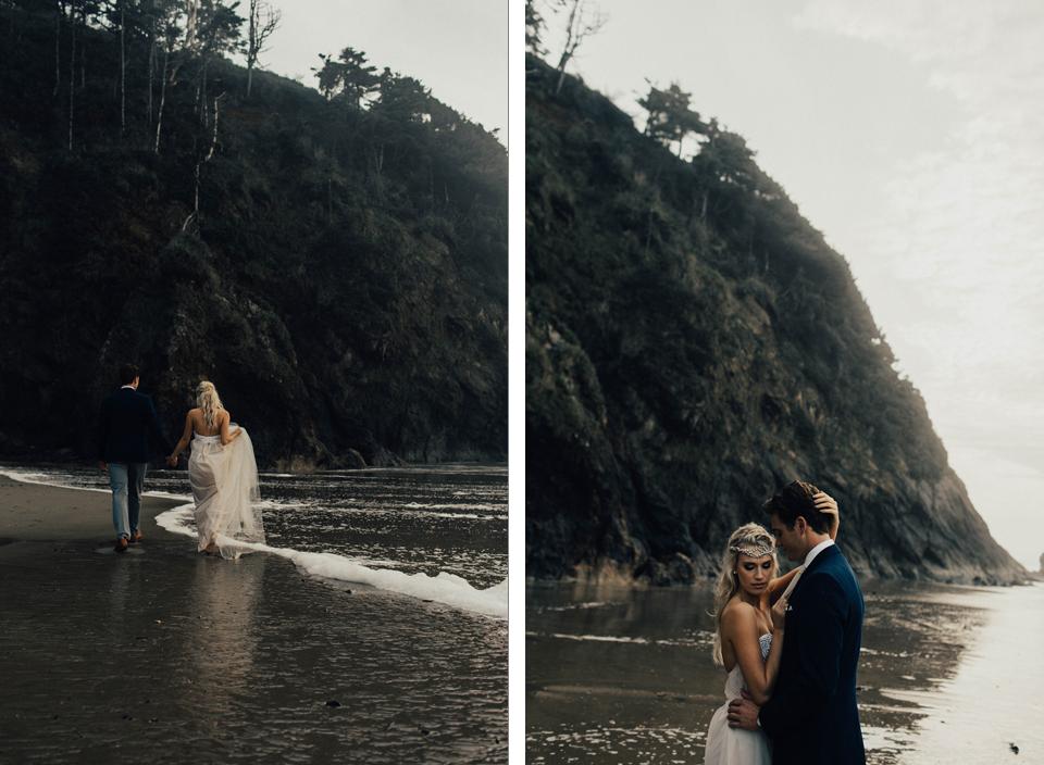 Hug Point Oregon Elopement - Michelle Larmand Photography -023
