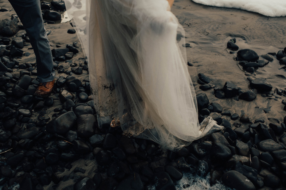 Hug Point Oregon Elopement - Michelle Larmand Photography -028