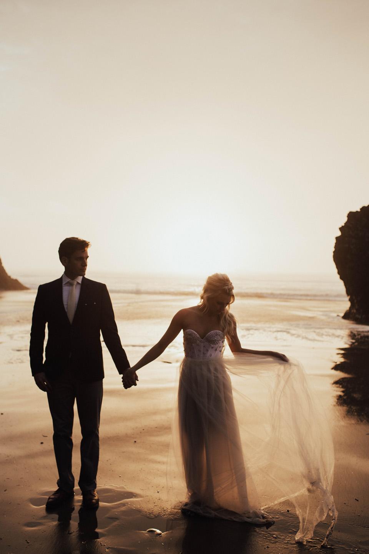 Hug Point Oregon Elopement - Michelle Larmand Photography -049