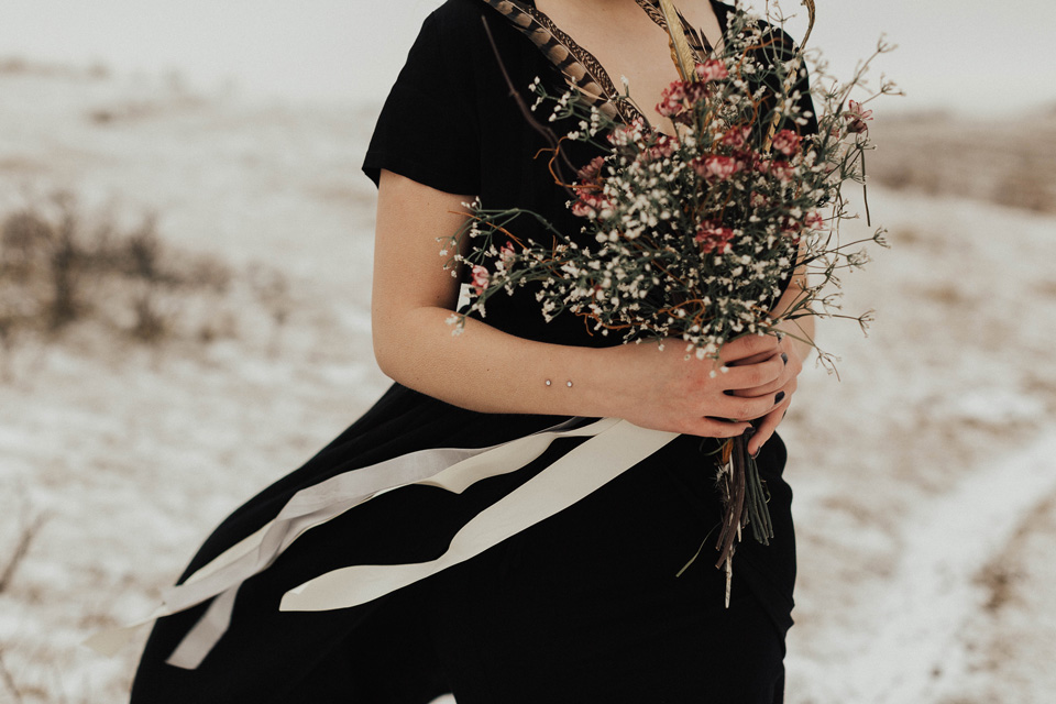 Moody Winter Bridals Edmonton Portrait and Wedding Photographer - Michelle Larmand Photography -017