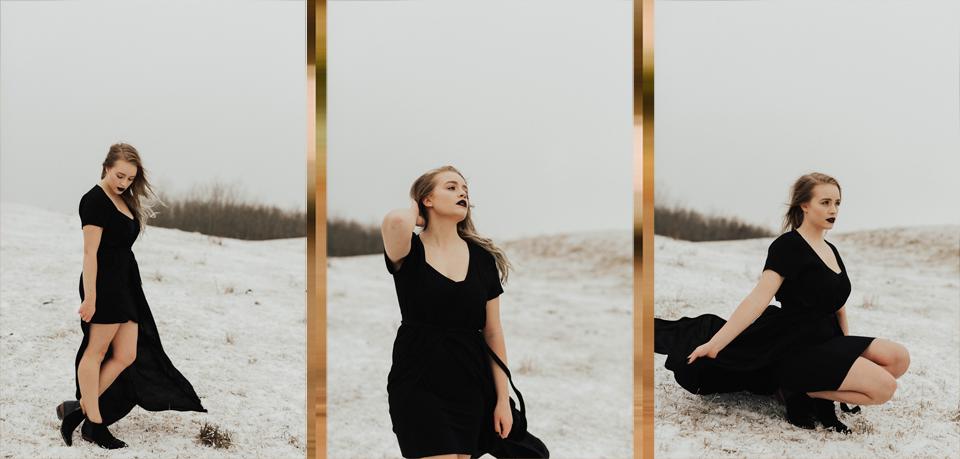 Moody Winter Bridals Edmonton Portrait and Wedding Photographer - Michelle Larmand Photography -026