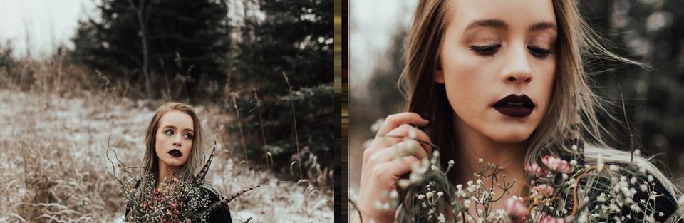Moody Winter Bridals Edmonton Portrait and Wedding Photographer - Michelle Larmand Photography -041