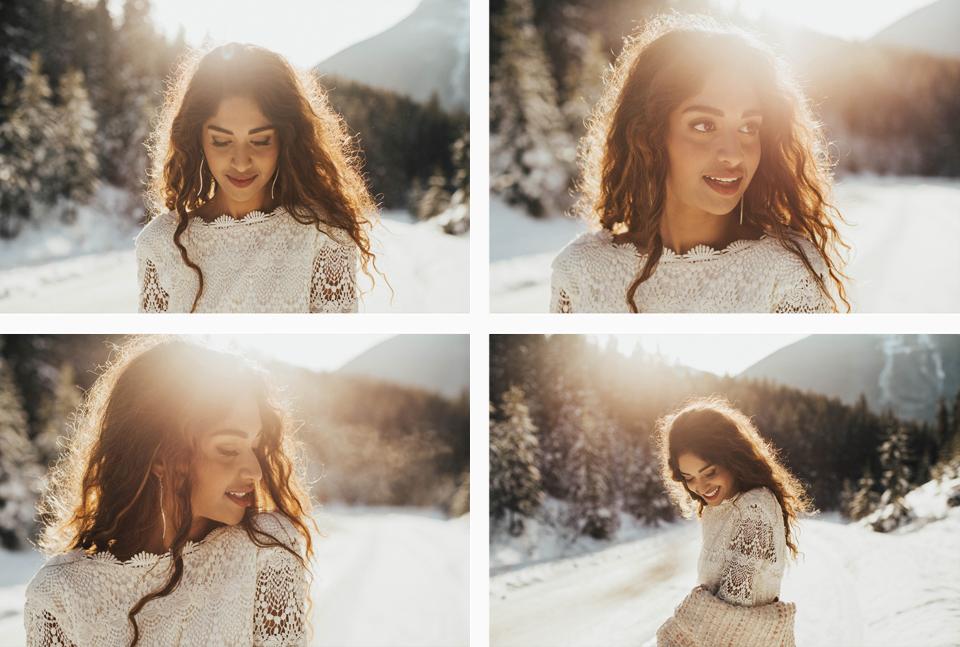 Winter Mountain Bohemain Bridal Inspiration - Michelle Larmand Photography - Banff Wedding Photography -009