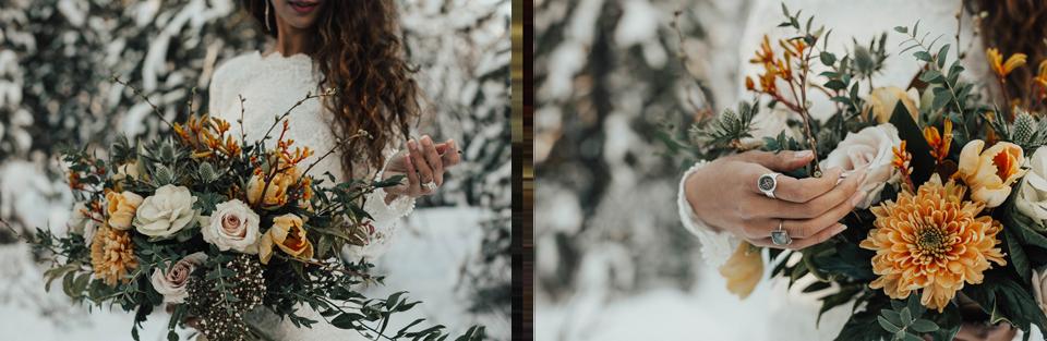 Winter Mountain Bohemain Bridal Inspiration - Michelle Larmand Photography - Banff Wedding Photography -027