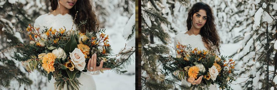 Winter Mountain Bohemain Bridal Inspiration - Michelle Larmand Photography - Banff Wedding Photography -030
