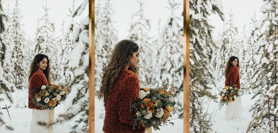 Winter Mountain Bohemain Bridal Inspiration - Michelle Larmand Photography - Banff Wedding Photography -031